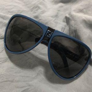 Fendi Blue Sunglasses w FF Logo in center front